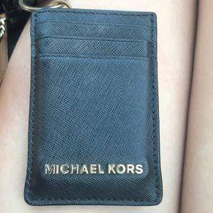 michael kors wallet for lanyard